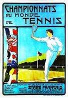 ►  Championnat Du Monde De Tennis Stade Français  Saint Cloud Garches   Balles Williams   Drapeau Flag 1912 Reproduction - Tenis