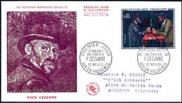 """82 - FRANCE - FDC ENVELOPPE PREMIER JOUR N° 1321 PAUL CÉZANNE """"JOUEURS DE CARTES"""" OBLITÉRATION PARIS 10/11/1961 - 1960-1969"""