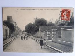 CPA - Châteauneuf-en-Thimerais (28) - Vue Prise Rue De Verneuil, Animée, Voyagée En 1912 - Châteauneuf