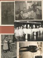 Photographies Lot 5 Photos Amiens 1961 Café Buvette Cuisine Bistrot ..photo Différent Format Dans L'état - Lieux