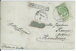 Fantasiekaart Met OCB 83 - Stationsstempel HENRI-CHAPELLE - 1893-1907 Armoiries