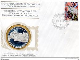 Intern.Society Of Postmasters - 700e Anniverssaire D'Amsterdam (Silver) - Otros