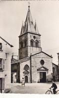 ST DIDIER EN VELAY :CPSM P.F. DE 1956.NON TROUVEE SURDIVERS SITES AVEC CETTE VUE DE L EGLISE.ANIMEE B.ETAT - Saint Didier En Velay