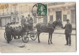 CPA 03 Carte Photo La Banque De France Vichy Un Attelage - Vichy