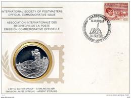 GRONLAND-Intern.Society Of Postmasters - 100e Anniv. De Jorgen Brolund (Silver) - Otros