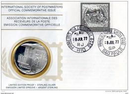 Brasil - Intern.Society Of Postmasters - Centenairedu Chemin De Fer Sao Paulo/Rio (Silver) - Otros