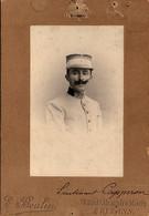 Photo (14 X 10 Cm).Lieutenant Capperon Du 1er Régiment De Tirailleurs Algériens. Photo E. Boulin, Orléans - Oorlog, Militair