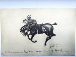 Militaria ,illustrateur ,humour équitation Saumur  : Soyons Discrets ! Monsieur !! - Humoristiques