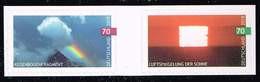 Bund 2019, Michel# 3445 - 3446 ** Himmelsereignisse: Luftspiegelung Der Sonne Und Regenbogenfragment, Selbstklebend - Ungebraucht