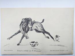 Militaria ,illustrateur ,humour équitation Saumur  : Travail De Détente - Humoristiques