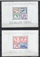 - ALLEMAGNE Blocs N° 4 + 5 Neufs ** MNH - XI. OLYMPISCHE SPIELE BERLIN 1936 - Cote 260,00 € - - Blokken