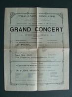 1929 LA REOLE Gironde 33 Programme De La Phalange Réolaise  Salle Du Patronage - Programmes