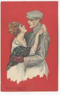 ILLUSTRATEUR - S. BOMPARD - ART DECO -  GLAMOUR - FASHION - Couple Amoureux Casquette - Bompard, S.