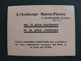 Carte De Visite L'Auberge Saint Pierre à DAMPIERRE ( Seine Et Oise ) Yvelines - Cartes De Visite