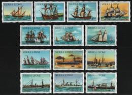 Sierra Leone 1985 - Mi-Nr. 766-779 II ** - MNH - Schiffe / Ships (I) - Sierra Leone (1961-...)