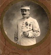 Photo (11 X 10 Cm). Capitaine Bascouet Du 1er Régiment De Tirailleurs Algériens - Oorlog, Militair