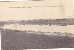 CLAIRVAUX : TRES RARE CPA N.CIRCULEE DU VILLAGE ET DU LAC .TACHE COTE DROIT.PRIX SACRIFIE - Clairvaux Les Lacs