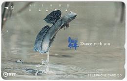 JAPAN O-169 Magnetic NTT [391-143] - Animal, Fish - Used - Japón