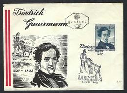 AUTRICHE 1962: FDC - FDC
