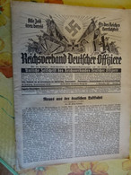 """Zeitschrift """"Reichsbund Deutscher Offiziere"""" Nr.25   Berlin 1937 - Zonder Classificatie"""