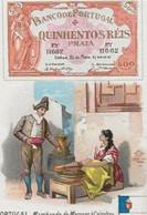 Chromo Aiguebelle 10,5 X 7 - Le Papier Monnaie Portugal - Aiguebelle