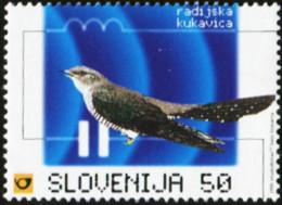 SLOVENIA 1998 Cuckoo And Radio Waves Bird Birds Animals Fauna MNH - Cuckoos & Turacos