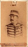 Photo-carte. Capitaine Adjudant-major Bajolle Du 1er Rgt De Tir. Algériens, Photo Marius Coulon & Vollenweiler, Alger - Guerra, Militari