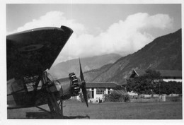 Photographie Anonyme Vintage Snapshot Avion Aviation Plane Hélice - Aviación