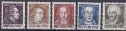 Sowjetische Zone 1949 - Mi.Nr. 234 - 238 - Postfrisch MNH - Goethe - Sovjetzone