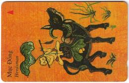 VIETNAM A-065 Magnetic Uniphonekad - Painting, Animal, Water Buffalo - 4UPVA - Used - Vietnam