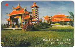 VIETNAM A-096 Magnetic Uniphonekad - Architecture, Traditional Building - 3MVSC - Used - Vietnam