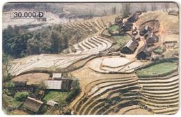 VIETNAM A-115 Chip Cardphone - Landscape, Rice Field - Used - Vietnam
