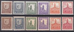 SBZ West Sachsen - Mi.Nr. 156 -161 X + Y - Postfrisch MNH - Zona Soviética