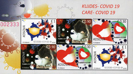 Kosovo - 2020 - Care - Covid-19 - Mint Miniature Stamp Sheet - Kosovo
