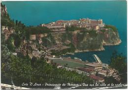 A6513 Principaute De Monaco - Vue Sur La Ville Et Le Rocher / Viaggiata - Viste Panoramiche, Panorama
