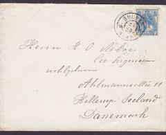 Netherlands GULPEN Limburg 1908 Cover Brief Ahlmanns Allé 11 HELLERUP (Arr. Brotype Ia) Denmark 12c. Wilhelmina Stamp - Covers & Documents