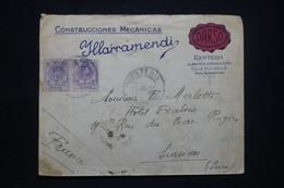 ESPAGNE - Enveloppe Commerciale De San Sebastian Pour La France En 1922 - L 98618 - Cartas