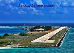 Spratly Islands Swallow Reef Layang-Layang Runway New Postcard - Malaysia
