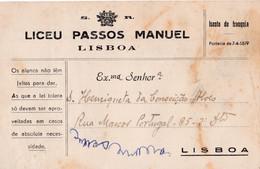 Isento De Franquia -LICEU PASSOS MANUEL - Brieven En Documenten