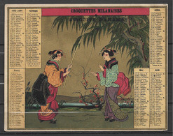 Calendrier 1882 Format 150 X115 Mm Avec Japonaises Pub Biscuits Panama - Formato Piccolo : ...-1900