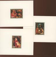 1977  MALI. A312-314 **.  3 Feuillets De Luxe. XtMas. Noël. Peintures RUBENS - Rubens