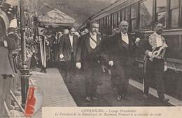 50  Cherbourg,voyage Présidentiel  , Le Président De La République M Raymond Poincaré A La Descente Du Train - Cherbourg
