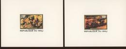 1978  MALI. A315-317 **.  3 Feuillets De Luxe.  Peintures RUBENS Hercule +Lion. Farming Combat Des Amazones - Rubens