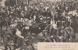 50 Cherbourg, Voyage Présidentiel, Le Cortège Sur Le Quai Alexandre III - Cherbourg