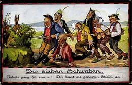 Artiste CPA Boettcher, Hans, Die Sieben Schwaben, Jokele Gang Du Voran - Non Classés