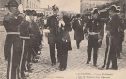 50   Cherbourg Voyage Présidentiel , Mr Poincaré Dans L'arsenal - Cherbourg