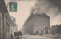35 Rennes L'hotel Des Postes Incendié - Rennes
