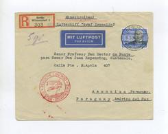 1935 3. REICH SCHÖNER R- BRIEF MIT EF3 MARK GRAF ZEPPELIN MI 539 PER LUFTSCHIFF LZ 127 SIEGER 302 Aa - Cartas