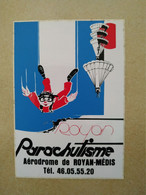 AUTOCOLLANT STICKER - ROYAN PARACHUTISME – AEROPORT DE ROYAN-MÉDIS – SPORT - Stickers