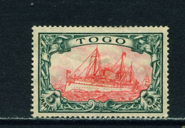 TOGO  -  1909-19 Yacht Definitive 5m Hinged Mint - Colony: Togo